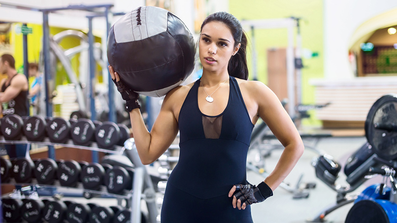 Flab-Fighting Medicine Ball Workout For Arms