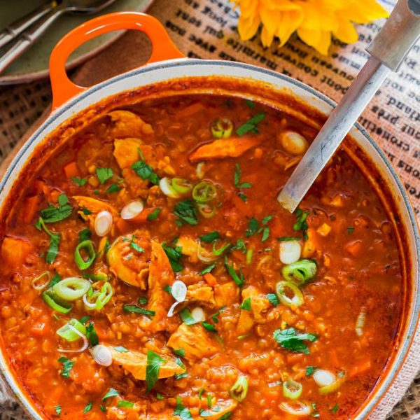Red Lentil And Chicken Soup